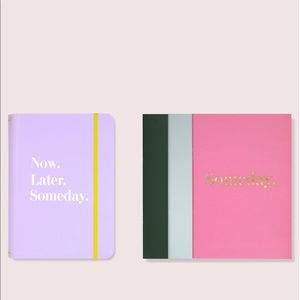 New Kate Spade Now Later Someday Note Folio Set